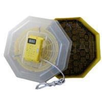 keltetőgép hőmérséklet- és párakijelzővel, forgatóráccsal C5-FHP
