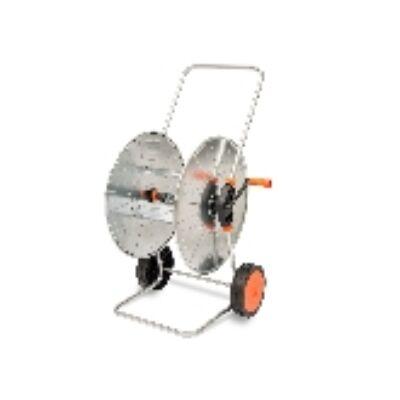Tömlőkocsi / Locsolókocsi horganyzott acélból készült hengerrel és vázzal