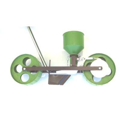 Rezgőnyelves kiskerti vetőgép sorkerekes kivitelben R-4
