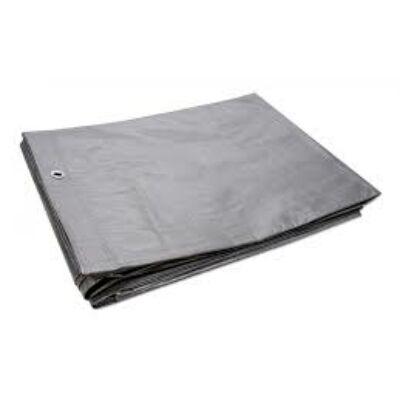 Ponyva, takaróponyva, 5x6 m, ezüst színű